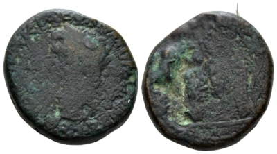 Judaea, Caesarea Panias(?) Claudius, 41-54 Bronze Possibly struck under Agrippa II, before AD 49 (Starting Bid £ 45 )