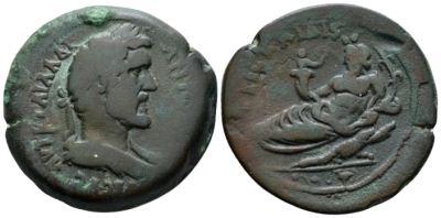 Egypt, Alexandria. Dattari. Antoninus Pius, 138-161 Drachm circa 149-150 (year 13) - From the Dattari collection. (Starting Bid £ 150 )