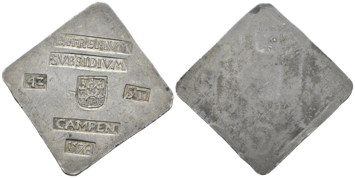 Low Countries. Campen., Besieged by the States-General, 1578. Necessity Taler of 42 stuiver July 1578 (Starting Bid £ 1000 )