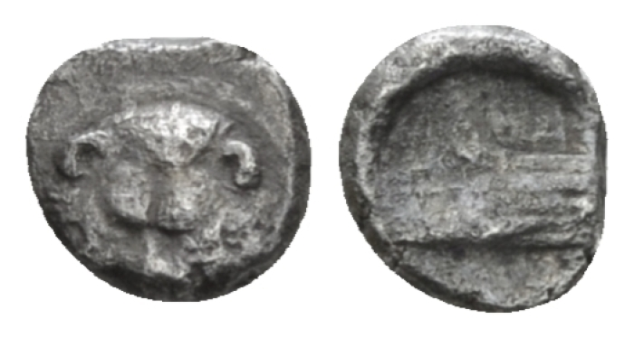 Sicily, Messana as Zankle Tetartemorion circa 493-488 Under Samian Rule - From the E.E. Clain-Stefanelli collection. Published in RBN. (Starting Bid £ 60 *)