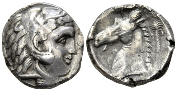 The Carthaginians in Sicily and North Africa, Entella (?) Tetradrachm circa 320-300 (Starting Bid £ 300 *)
