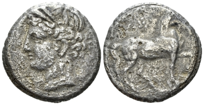 The Carthaginians in Sicily and North Africa, Carthage Reduced double shekel circa 200-146, (Starting Bid £ 40 *)
