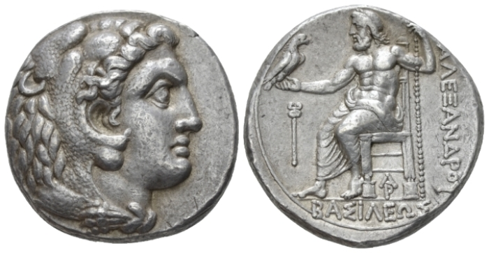 Kingdom of Macedon, Aradus Tetradrachm circa 328-320 - From an old Canadian collection. Lifetime issue, (Starting Bid £ 250 *)