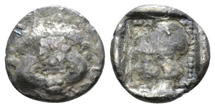 Lesbos, Methymna Diobol circa 500-480/460 - From the E.E. Clain-Stefanelli collection. (Starting Bid £ 25 *)