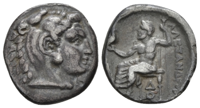 Kingdom of Macedon, Alexander III, 336 – 323 Lampsacus Drachm circa 328-323 - From the E.E. Clain-Stefanelli collection. (Starting Bid £ 25 *)