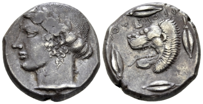 Sicily, Leontini Tetradrachm circa 430 - Privately purchased from NAC in 1998. (Starting Bid £ 500 )