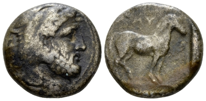 Kingdom of Macedon, Amyntas III, 389-383 and 381-369. Stater circa 389-383 - From the M.J. Collection. (Starting Bid £ 80 )