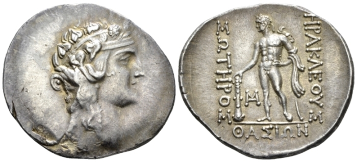 Island of Thrace, Thasos Tetradrachm after 150 (Starting Bid £ 70 )
