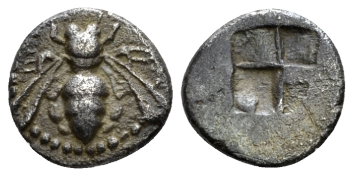 Ionia, Ephesus 1/12 stater end VI cent. - Ex NAC sale 82, 2015, 179. Privately purchased from Hauck & Aufhäuser in 1994.  (Starting Bid £ 60 )