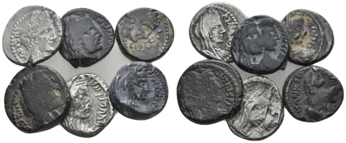Kings of Nabathaea, Lot of 6 Drachms I cent. (Starting Bid £ 50 )