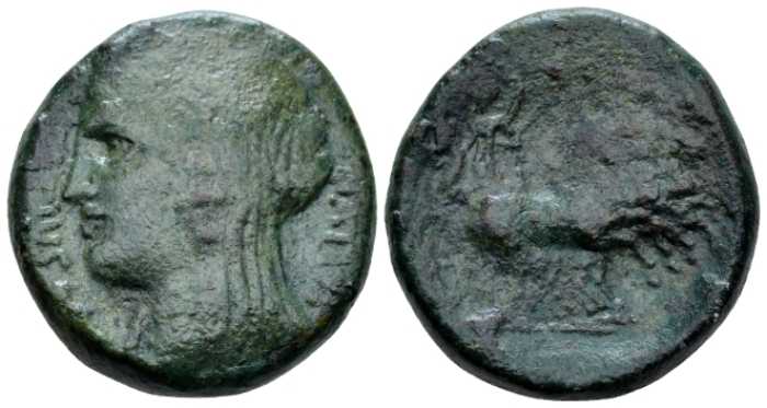 Sicily, Enna As circa 36 BC - Ex NAC sale O, 2004, 1296. From the A.D.M collection. (Starting Bid £ 80 *)