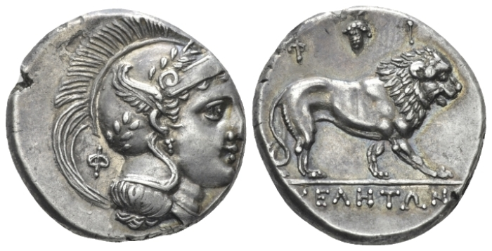 Lucania, Velia Nomos circa 300-280 - Privately purchased from NFA in 1980. From GMRH collection. (Starting Bid £ 400 )