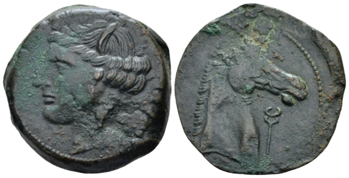 The Carthaginians in Sicily and North Africa, Sardinia Bronze circa 264-241 (Starting Bid £ 35 *)