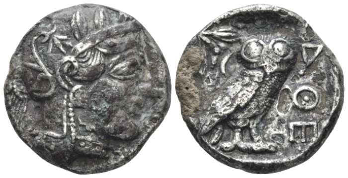 Attica, Athens Plated tetradrachm after 449 - From an old Canadian collection. (Starting Bid £ 180 *)