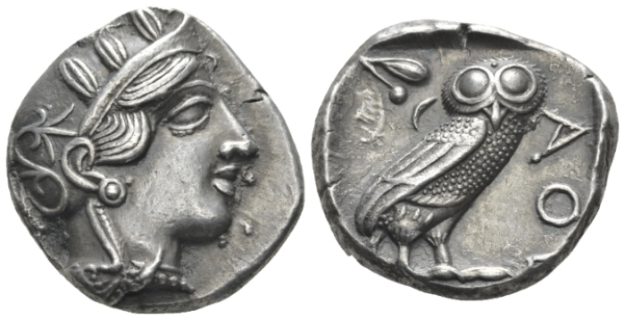 Attica, Athens Tetradrachm circa 430-420 - Privately purchased from J.P. Rosen in New York in 1986. (Starting Bid £ 300 )