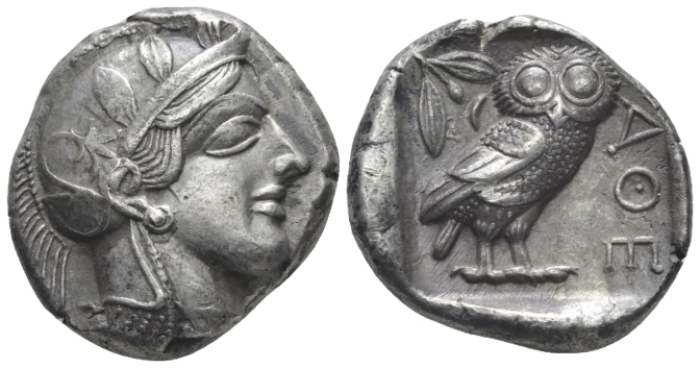 Attica, Athens Tetradrachm circa 440-430 - Privately purchased from J.P. Rosen in New York in 1986. (Starting Bid £ 300 )