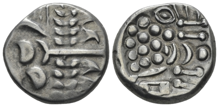 Celtic, Cranborne chase type Stater circa 58-43 - Ex M&M Fixed Price List 498, 1987, 3 and NAC Spring sale 2020, 1. (Starting Bid £ 40 )