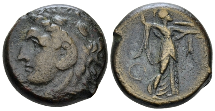 Sicily, Syracuse Bronze circa 278-276 - From the Lord Grantley collections. Sold with the original ticket. (Starting Bid £ 35 *)
