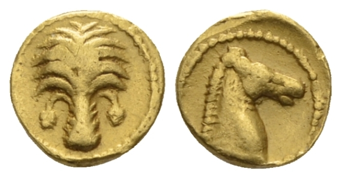 The Carthaginians in Sicily and North Africa, Carthago (?) 1/10 Stater circa 350-320 - Ex NAC Spring Sale 2020, 164. (Starting Bid £ 100 )