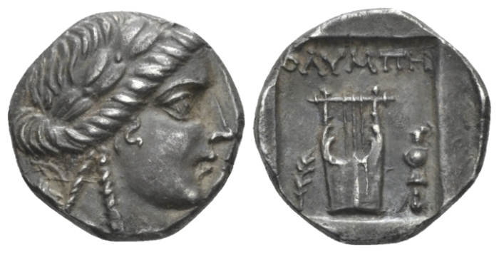 Lycia, Olympos as member of the Lycian league. Lycian league Drachm circa 167-81 BC - Ex Astarte 11, 2002, 430 and NAC sale 92, 2016, 1493 (Starting Bid £ 60 *)