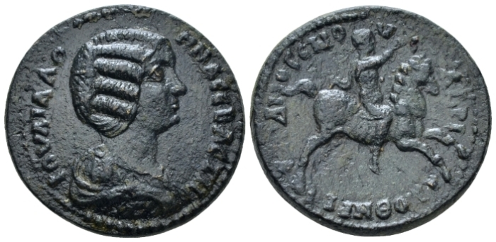 Mysia, Hadrianotherae Julia Domna, wife of Septimius Severus Bronze circa 193-211 (Starting Bid £ 40 *)