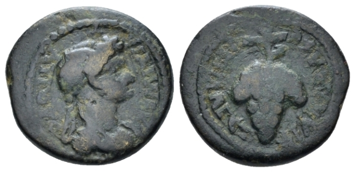 Lydia, Philadelphia Domitia, wife of Domitian Bronze circa 82-96 (Starting Bid £ 30 *)