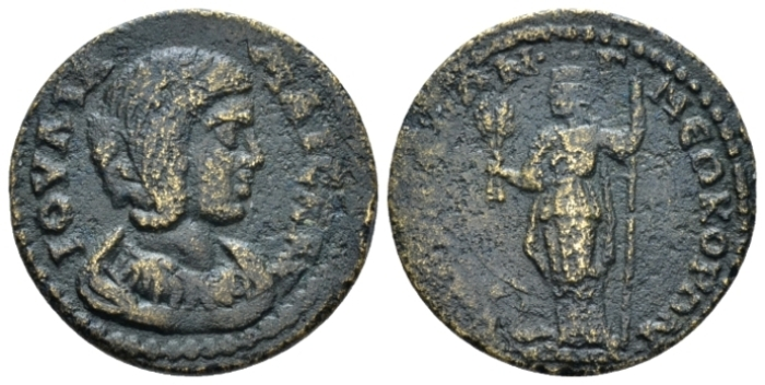 Lydia, Sardis Julia Maesa, sister of Julia Domna and grandmother of Elagabalus Bronze circa 218-222 (Starting Bid £ 30 *)