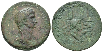 Cilicia, Anazarbus Germanicus, father of Gaius Bronze circa 48-49 (year 67) (Starting Bid £ 130 *)