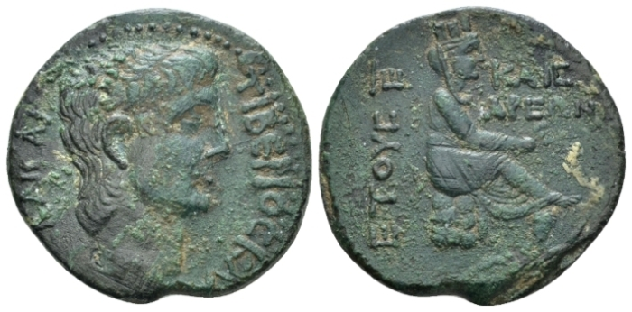 Cilicia, Uncertain Claudius, 41-54 Bronze circa 46 (year 5) (Starting Bid £ 35 *)