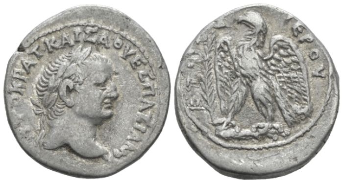 Vespasian, 69-79 Tetradrachm Antiochia circa 71-72 New Holy year 4, (Starting Bid £ 60)