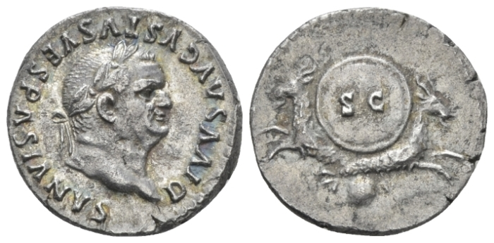 Divus Vespasianus. Denarius circa 80-81 - Ex NAC 51, 2009, 914  and 52, 2009, 1027 sales. (Starting Bid £ 50)