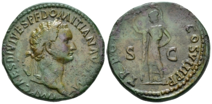 Domitian, 81-96 Sestertius circa 82 - Apparently unrecorded. (Starting Bid £ 200*)