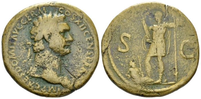 Domitian, 81-96 Sestertius circa 86 (Starting Bid £ 100*)
