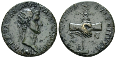 Nerva, 96-98 Dupondius circa 97 - From the Gordon Dickie collection in 1989. (Starting Bid £ 35*)