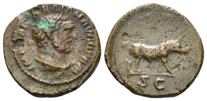 Trajan, 98-117 Quadrans circa 98-102 (Starting Bid £ 35*)