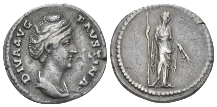 Faustina senior, wife of Antoninus Pius Denarius After 141 (Starting Bid £ 40)