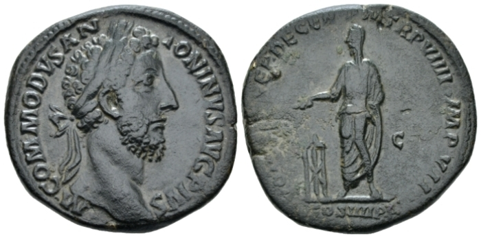 Commodus, 177-192 Sestertius circa 184 (Starting Bid £ 90*)