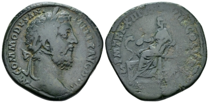 Commodus, 177-192 Sestertius circa 188 (Starting Bid £ 35*)