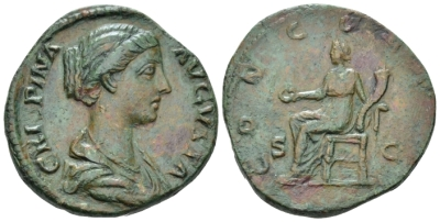 Crispina, wife of Commodus Sestertius circa 180-183 or later (?) (Starting Bid £ 80*)