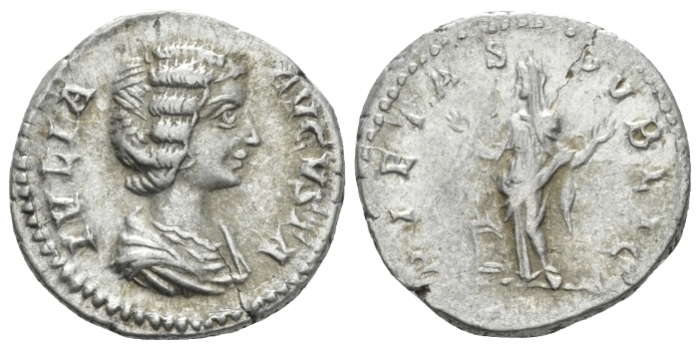 Julia Domna, wife of Septimius Severus Denarius circa 196-211 (Starting Bid £ 25)