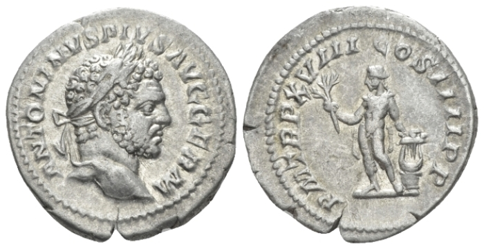 Caracalla, 198-217 Denarius circa 215 (Starting Bid £ 35)
