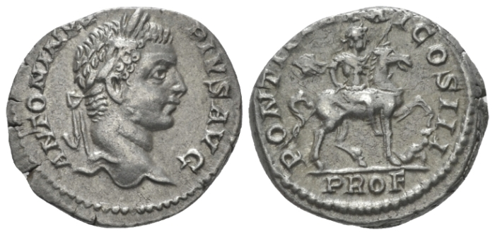 Caracalla, 198-217 Denarius circa 208 (Starting Bid £ 45)