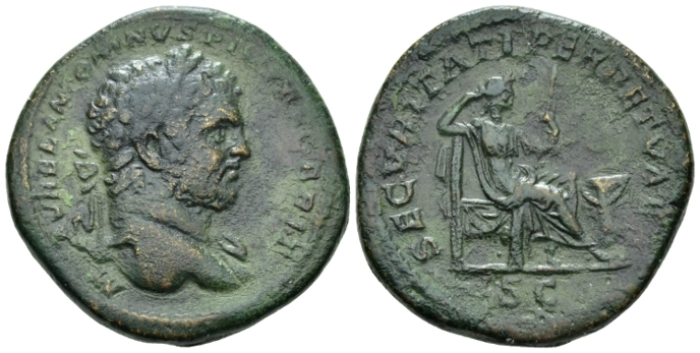 Caracalla, 198-217 Sestertius circa 213 (Starting Bid £ 50*)