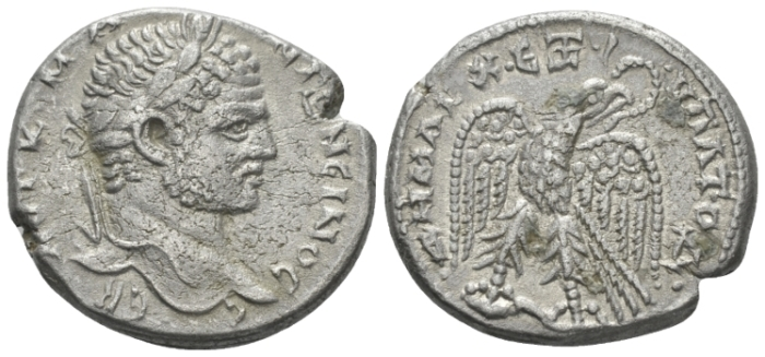Caracalla, 198-217 Tetradrachm Antioch circa 214-215 (Starting Bid £ 30*)