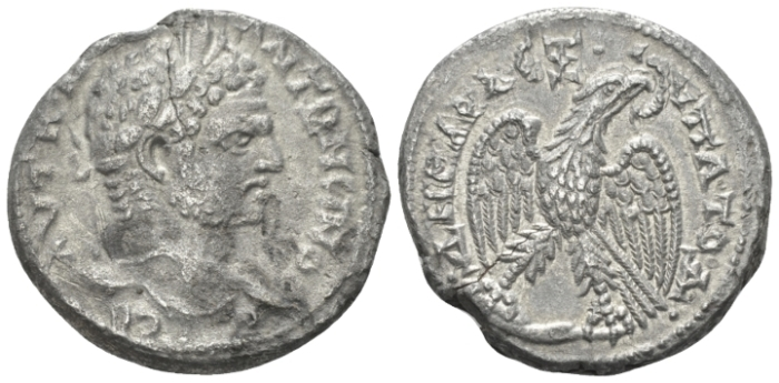 Caracalla, 198-217 Tetradrachm Antioch circa 214-215 (Starting Bid £ 30)