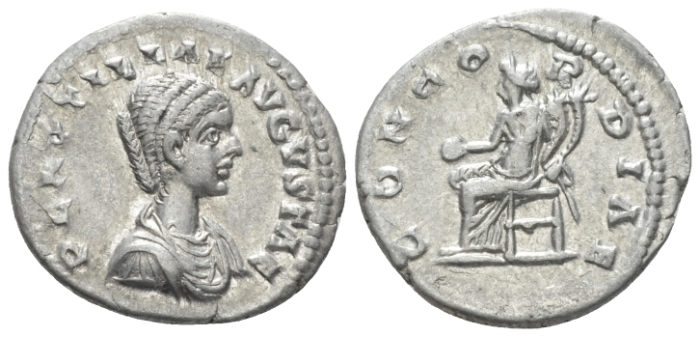 Plautilla, wife of Caracalla Denarius Laodicea ad Mare, circa 202-205 (Starting Bid £ 35)