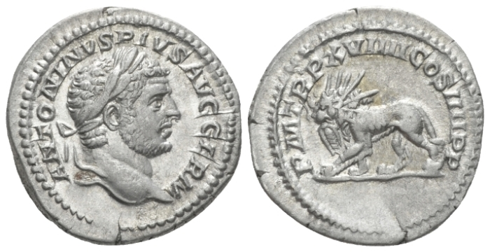 Caracalla, 198-217 Denarius circa 216 (Starting Bid £ 35)
