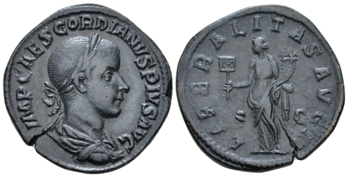 Gordian III, 238-244 Sestertius circa 239 - Ex CNG sale 85, 2010, 1035 and NAC sale 114, 2019, 1648. (Starting Bid £ 40)