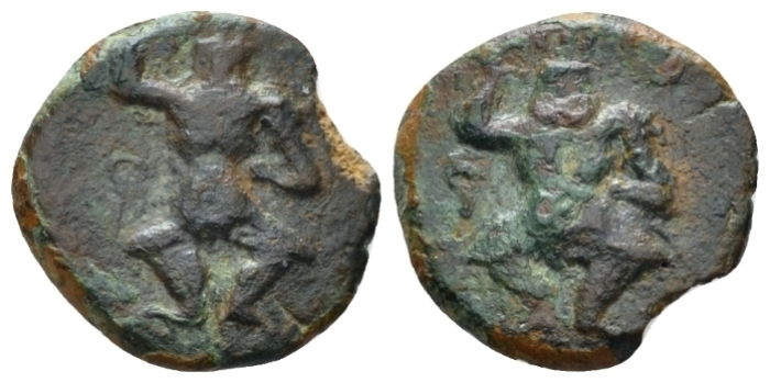 Hispania, Ebusus Bronze Late II-I cent. (Starting Bid £ 25 )