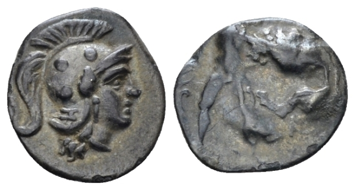 Calabria, Tarentum Diobol circa 325-280 - From the E.E. Clain-Stefanelli collection. (Starting Bid £ 25 *)